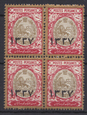 1918 Lion issue - 30 Krans overprinted 1337 in block of 4 - MNH
