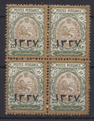 1918 Lion issue - 20 Krans overprinted 1337 in block of 4 - MNH, remark