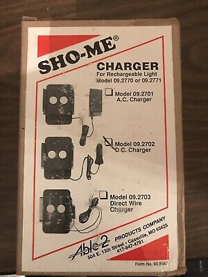 SHO-ME Flashlight 12V DC Plug-in Charger New 09.2702