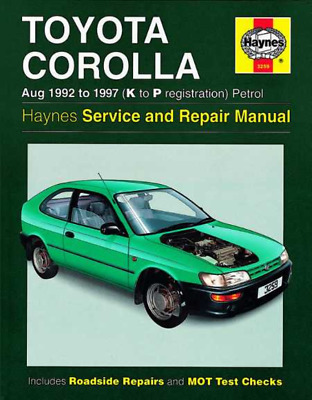Haynes Workshop Manual Toyota Corolla Petrol 1992-1997 Service & Repair