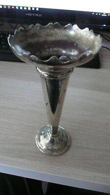 vintage silver plated posy vase