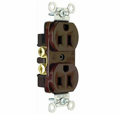 Legrand-Pass & Seymour 15Amp/125volt Construction Grade Duplex Receptacle Brown