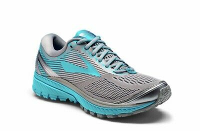 0f0a0ca2dfea7 Brooks Women s Ghost 10 Running Shoes Primer Grey Teal Victory Blu Silver  Size 6