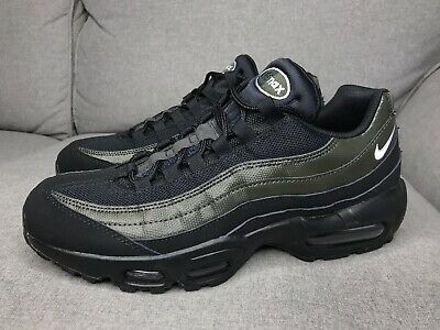 dbfaf1c33f69 Nike Air Max 95 Essential Black Sequoia Green Running Shoes 749766-034 Size  8.5