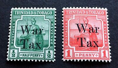 TOP QUALITY STAMPS - Trinidad & Tobago 1917 2 mint hinged War Tax