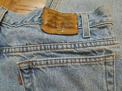 f511e13a81e Vintage LEVIS Jeans Relaxed Blue Denim 540 Brown Tab Leather Tag Mens 36 X  32