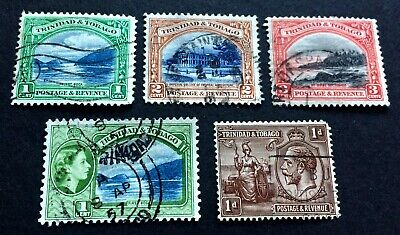 Trinidad & Tobago - 5 old used stamps
