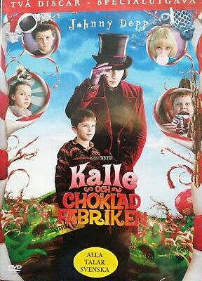 Norwegian Swedish Disney DVD for Children CHARLIE AND THE CHOCOLATE FACTORY