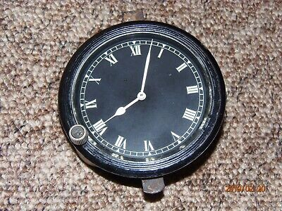 Vintage French Jaeger car clock, front winder, in very good working order.