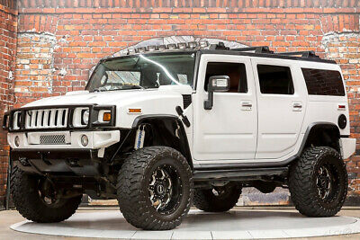 2008 Hummer H2 SUV 4WD 08 393hp 6.2L V8 Fabtech Lift Corsa Exhaust BMF Wheels Toyo AMP Power Steps