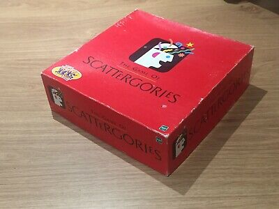 Scattergories Board Game By Hasbro Games 1999 - 6 Player Vintage Retro Fun