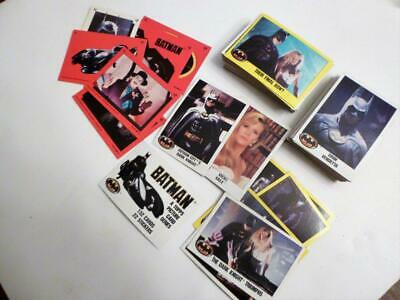 Lot of 98 Cards & 6 Stickers from the Topps BATMAN Movie Trading Card set