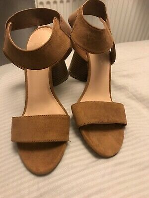 ad6830bfc452 NEW LOOK WIDE Fit Tan Heeled Sandals - EUR 1