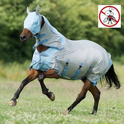 Gallop Mesh Full Neck Combo All In One Horse Fly Rug Belly & Tail Flap FREE MASK