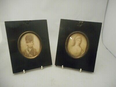 Pair of Early 19th Century Miniature Portrait Frames with Provenance -Militaria?