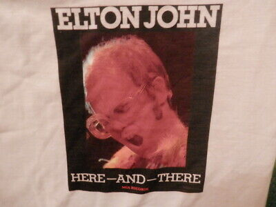ELTON JOHN HERE AND THERE 1976 DOUBLE SIDED PROMO SHIRT owned by BERNIE TAUPIN