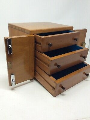Solid Maple Vintage Collectors Cabinet Height 22 x 24.5 x W20 cms