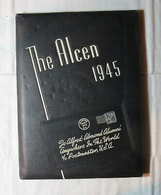 1945 Alfred-Almond Central School Almond, New York The Alcen Yearbook Wwii Era