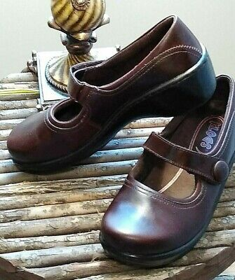 KLOGS*NEW* BROWN LEATHER NON-SKID MARY JANE Sz 7M SHOES