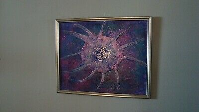 """Distant Nebula!""  Original acrylic painting signed by Carla Dancey"