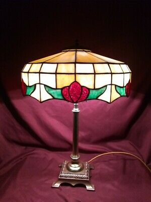 Leaded Glass Lamp - Handel Whaley Tiffany Duffner arts & crafts era slag glass