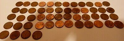 1959-1982PDS Large Date Copper Lincoln Memorial Set of 50 USA penny cent coins