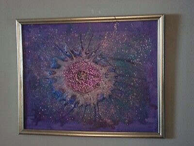 """Eye of God!""  Original acrylic painting signed by Carla Dancey"