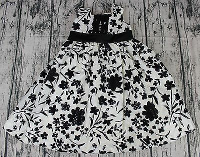1ffbc980521 MARMELLATA Toddler Girls Size 24 Months Floral Print Black   White Sequin  Dress