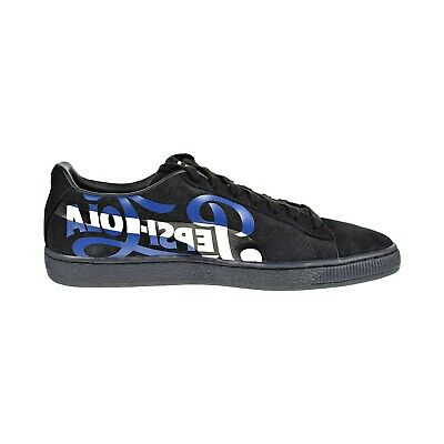 sports shoes 33d8b 95137 Puma Suede Classic x PEPSI Men s Shoes Black Silver 366332-02