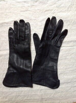 Leather Gloves. Exc Cond. Kid Lamb Leather.Made in England 1960's