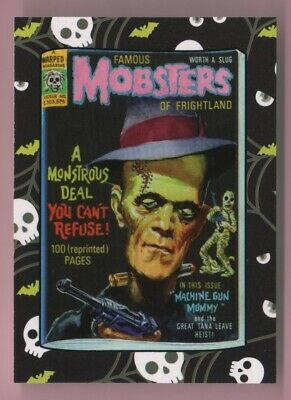 2018 Wacky Packages Goes To The Movies Horror Film Famous Mobsters Sticker
