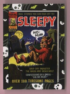 2018 Wacky Packages Goes To The Movies Horror Film Sleepy Sticker