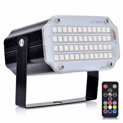 48 Led Strobe Light Bright RGB Remote Control Flash Stage Lighting for KTV Party