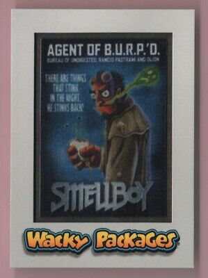 2018 Wacky Packages Goes To The Movies Smellboy Silver Parallel Patch 24/50