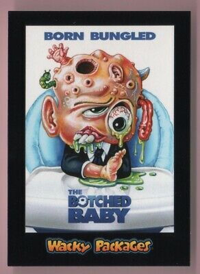 2018 Wacky Packages Goes To The Movies The Botched Baby Black Ludlow Back 02/99