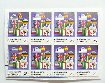 8 x Stamps Christmas 1979 25c Australia Unfranked Collectable