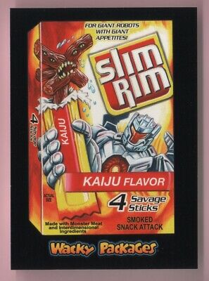 2018 Wacky Packages Goes To The Movies Slim Rim Black Ludlow Back 97/99