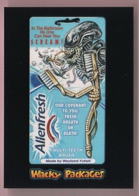 2018 Wacky Packages Goes To The Movies Alienfresh Black Ludlow Back #'d 68/99
