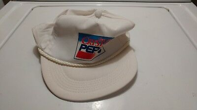 2c0f88b1000 Old Vintage Crystal Pepsi Cola Advertising Promotional Baseball Hat Cap  RARE NOS