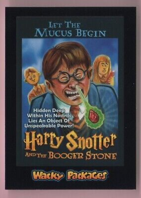 2018 Wacky Packages Goes To The Movies Harry Snotter Black Ludlow Back #'d 57/99