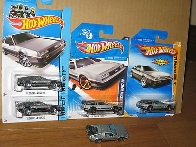 Hot Wheels Lot of 5 '81 DeLorean DMC-12 Back To The Future Time Machine FTE Nice