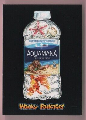 2018 Wacky Packages Goes To The Movies Aquamana Red Ludlow Back #'d 17/25