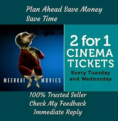 Meerkat 2 For 1 Cinema Code - Odeon, Cineworld, Vue - Use within 6 days