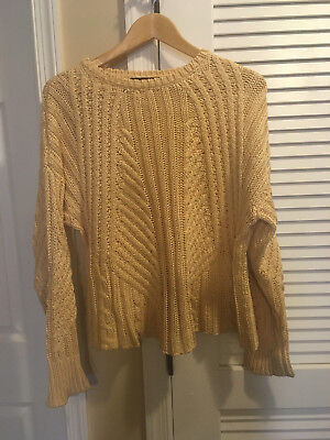 5c69fe0d98 The Row Gracie Matchstick Chunky Fisherman Sweater Ivory Natural Extra Small