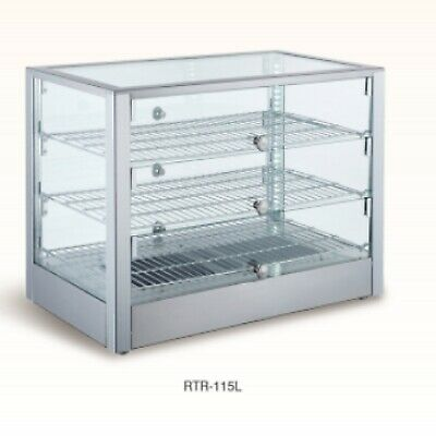 Pizza Warmer Commercial 27 x 16 x 19 Countertop Food Pastry Wide Display Case