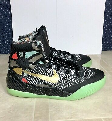 6fd67769e57 NIKE KOBE IX 9 ELITE GS YOUTH GUMBO ALL STAR BLACK METALLIC GOLD 636602-002