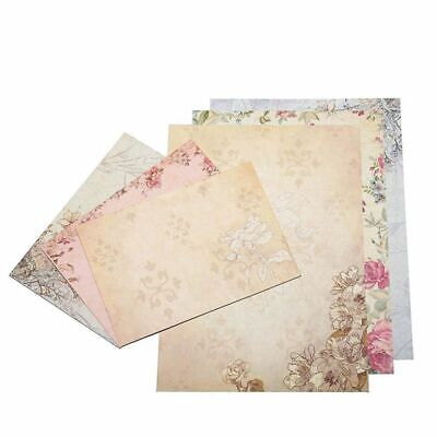 2X(40 Sheet Vintage Stationery Sets with Envelopes for Writing Letters I1H5)