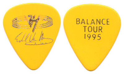 VAN HALEN Guitar Pick : 1995 Balance Tour Eddie signature bright yellow gold