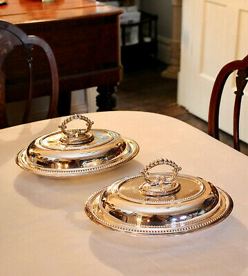 A Superb Pair Quality Edwardian Silver Plate Metamorphic Tureens