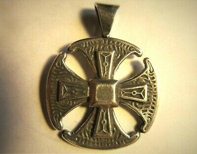SALE! CANTERBURY CROSS bronze pendant by Sherridan Smith / ancient Celtic desig